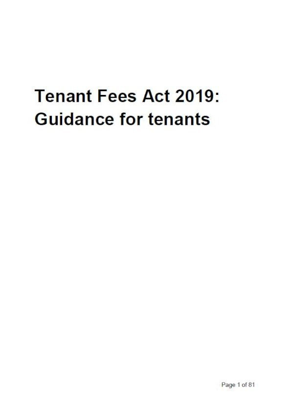 Embark Tenant Fees Act 2019: guidance for tenants issue