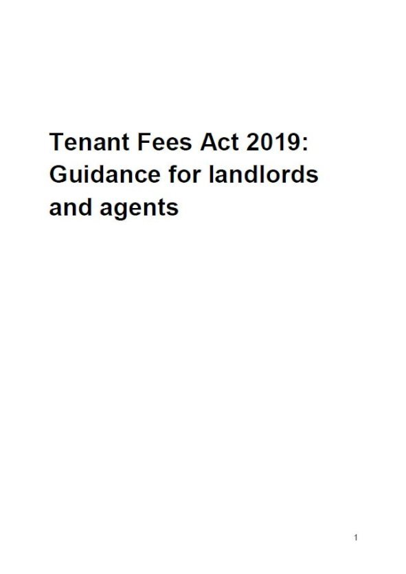 Embark Tenant Fees Act 2019: Guidance for landlords and agents issue